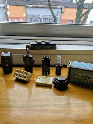 VINTAGE LOT OF EAGLE/LEVITON/GE/SNAPIT 60s ELECTRIC. *BAKELITE* MADE IN U.S.A.