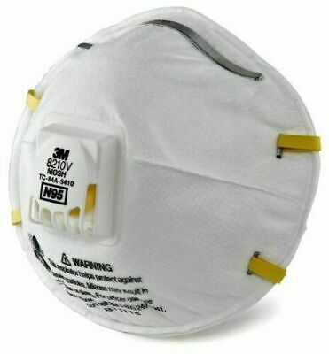 3M 8210 N95 Particulate Respirator W/Exhalation Valve mask, 1 Mask only