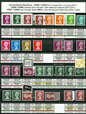 Specialised Collection - 87 Machin SG Prestige MPIL Security Stamps 2009 - 2020