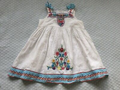Monsoon Embroidered Dress Age 6-12 Months