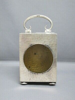 MINIATURE SILVER CARRIAGE CLOCK CASE REQUIRING A MOVEMENT (125 grams of silver)