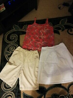 Summer Maternity Bundle Size 12, Strappy Top, Shorts And Skirt