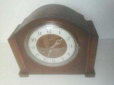 *Vintage Art Deco Oak Cased Enfield Mantel Clock Working Order Needs Servicing*