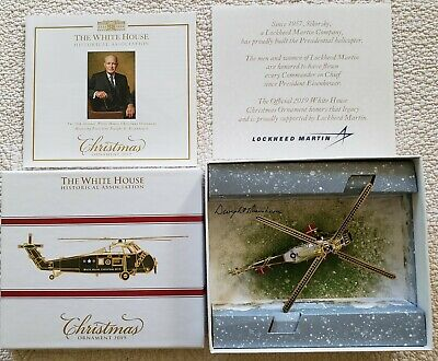 2019 White House Historical Association Christmas Ornament - Helicopter