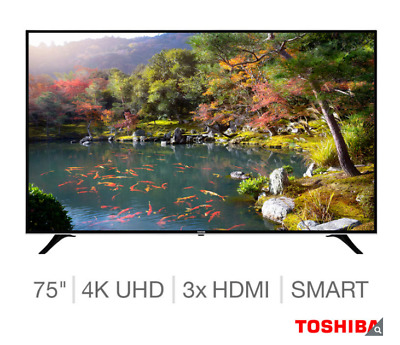 "Toshiba 75U6763DB 75"" Smart 4K Ultra HD LED TV, Freeview Play HD.."