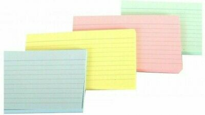 50 x Silvine Record Cards Revision/Flash/Index/White/Ruled/Coloured 5 x 3''