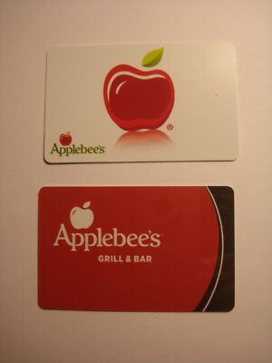 Applebee's Collectible Used Gift Cards (2), NO VALUE
