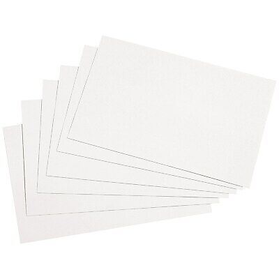 50 x Silvine Record Cards Revision/Flash/Index/Plain White 6 x 4''