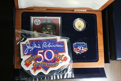 Jackie Robinson 50th Anniversary Commemorative Coins Legacy Set in box with COA