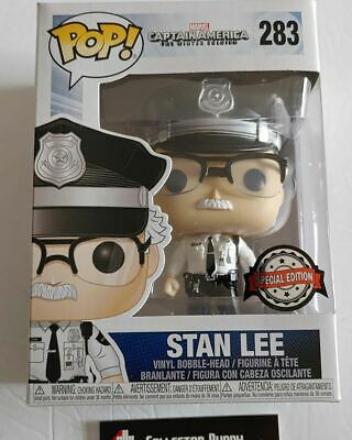 Funko Pop! Marvel 283 Captain America Stan Lee Security Special Edition Pop