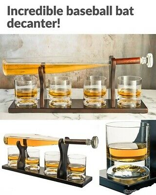 Baseball Bat Whiskey Decanter Baseball Whiskey Glasses Whiskey Rum Spirits Vodka