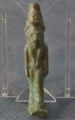 Ancient Egyptian Blue Faience Amulet Lion-Goddess Sekhmet 1200-300 B.C