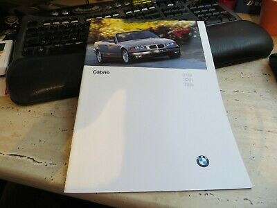 Brochure BMW 3-series Cabriolet E36, 1996, German text