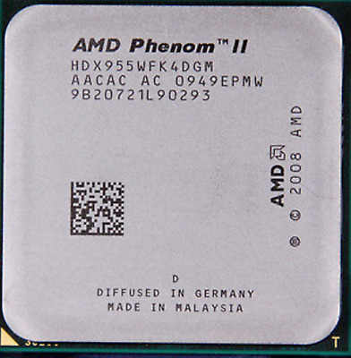 AMD CPU Phenom II X4-955 HDX955WFK4DGM 3.2GHz Socket AM3 TDP 95Watt