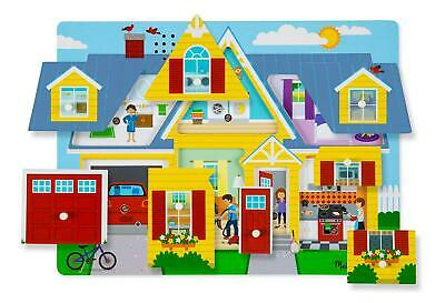 Melissa and Doug Around the House Sound Puzzle - 8 Pieces Wooden Puzzle NEW