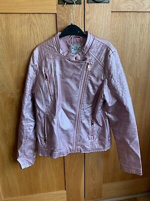 Girls Marks & Spencer's Rose Pink Faux Leather Jacket Age 13 -14 EU 164 cm