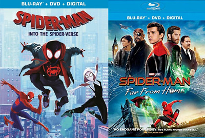 Spider-man: Far From Home & Into The Spider-Verse Blu-Ray + DVD + Digital