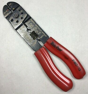 Blue-Point Tools PWC-13 Crimper and Wire Cutter Stripper Pliers Red Grips USA