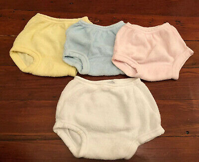 Vintage 60s JC Penneys Girls Terry Cloth Diaper Cover Lot/4 19-22lbs, 30-34lbs