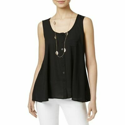 Size L, Style & Co Womens Swing Sleeveless Blouse Black NWT Free shipping