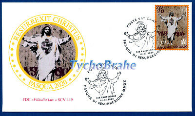 FDC OSTERN EASTER PASQUA VATIKAN 2019 VATICAN First Day Cover BRIEFMARKEN Stamps