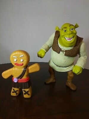 Shrek and gingerbread man toy