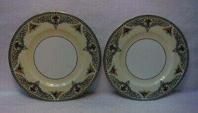 ROYAL WORCESTER china THE DUCHESS Z535 pattern Set of 2 Dinner Plates - 10-1/2""