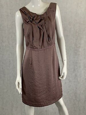 Loft Size 6 Lilac Lavender Light Purple Ruffle Front A-Line Sleeveless Dress NWT