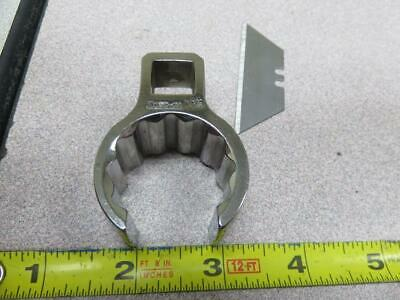 """Snap On 1 1/8"""" 1/2"""" Dr Flare Nut Crowfoot Wrench Aircraft Tool New"""
