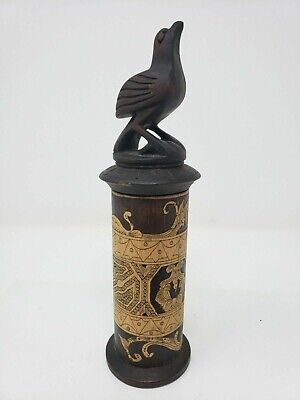 Indonesian / Balinese Handcrafted Wooden Carved Bird Hawk Lombok Container Box