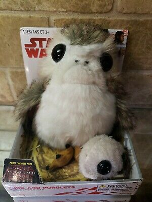 New Star Wars The Last Jedi - Porg and 1 Porglet Plush Disney Plushies Look!