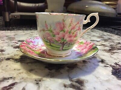 Royal Albert Blossom Time Bone China Coffee Tea cup Saucer England 9 Available