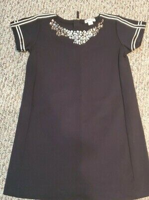Crewcuts black short sleeve embellished  girls Dress Size 7 EXCELLENT condition