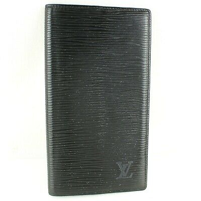 LOUIS VUITTON AGENDA POCHE Notebook Day Planner Cover Epi Leather Noir Black