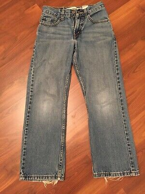 Boys 10 Slim LEVIS LEVI STRAUSS 569 JEANS 23X25 LOOSE STRAIGHT Guc