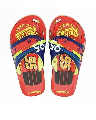 Disney Store Cars Tow Mater Toddler Boy Flip Flop Shoes Size 11//12