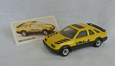 Matchbox Superfast MB55 Ford Sierra XR4i Yellow with Clear Windows
