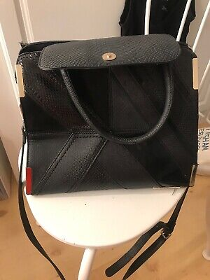 River island black tote bag