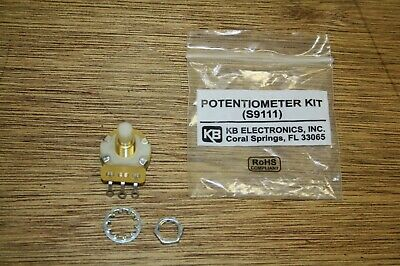 "KB Electronics 5K Ohm Potentiometer Kit (S9111) 1/4"" w/ Dial Plate, NIP"