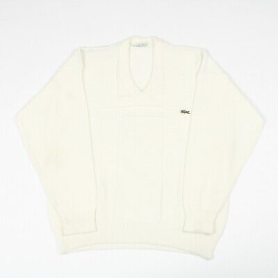 Vintage LACOSTE Patterned Jumper | XL | Sweater Knit Crew Top Pullover