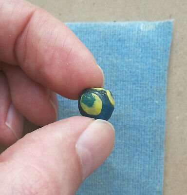 An ancient glass bead jewelry Kievan Rus Vikings 10 AD Very Rare color