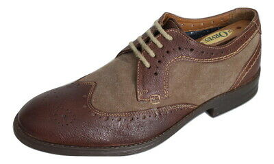 Clarks Shoes Wingtip Brogue Derby Lace-Up  Brown Leather UK 8 G EU 42