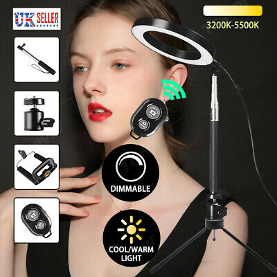 "2020 6"" Dimmable LED Ring Video Light Makeup Photography Lighting Kit + Tripod"