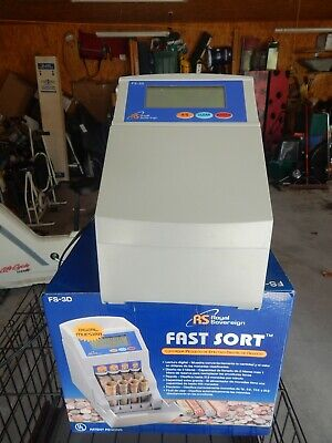Royal Sovereign Fast Sort Digital Coin Sorter FS-3D