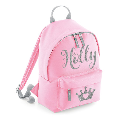 Personalised Mini Kids Crown Backpack Any Name School Toddler Nursery Bag MBPT