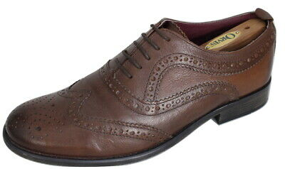 Clarks Shoes Brown Leather Wingtip Brogues Oxford Lace-Up UK 8 EU 42