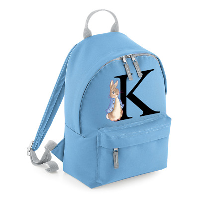 Personalised Mini Kids Initial Backpack Any Name School Nursery Toddler Bag MBPR