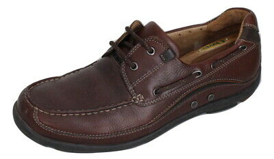 Clarks Unstructured Brown Leather Boat/Deck Shoes UK 9 G