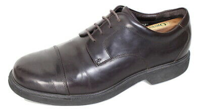Rockport Dressports H20 Waterproof Derby Lace-Up Leather Shoes 9.5 W Wide-Fit