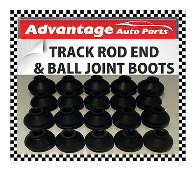 Universal Track Rod End Bar and Ball Joint Dust Cap Cover Boot - Medium x 6